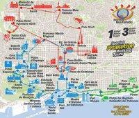 Cartina Barcellona Dettagliata.Mappa Di Barcellona